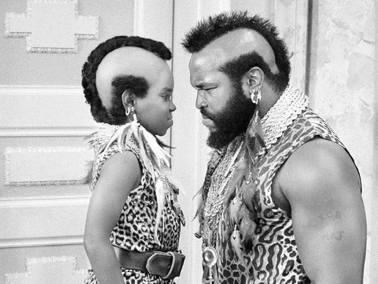 "Arnold (Gary Coleman) faces off with Mr. T in a 1983 episode of ""Diff'rent Strokes."""