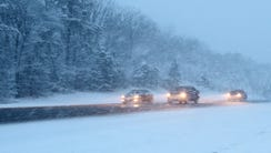 Traffic moves southbound along the Garden State Parkway