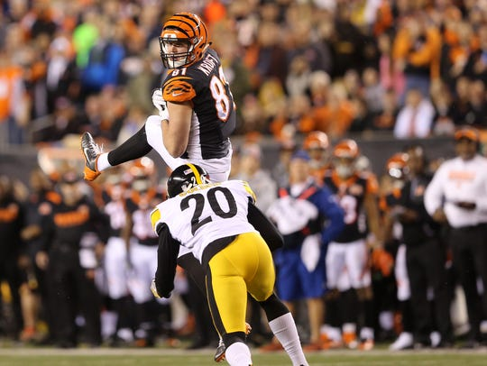 Cincinnati Bengals tight end Tyler Kroft established