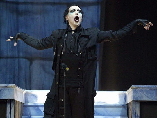 Marilyn Manson performs at OzzFest 2003 at the PNC Bank Arts Center in Holmdel.