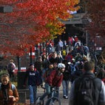 Fall on the University of Louisville campus.