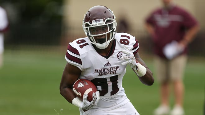 Justin Johnson returns as Mississippi State's only tight end with a reception from last season.