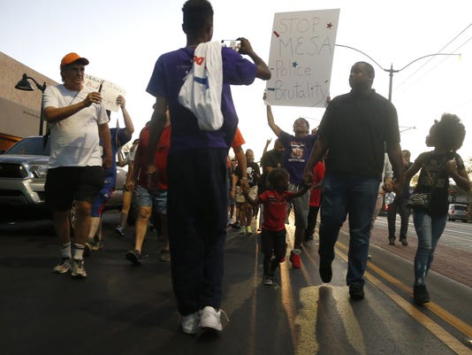 Police brutality rally in Mesa