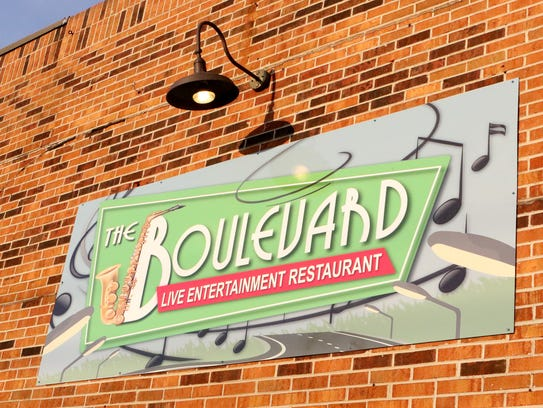 A new sign for The Boulevard Live Entertainment Restaurant
