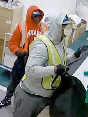 A submitted security photo of two men who burglarized a Bank of America in Carson City earlier this week.