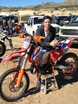 Kyle Hutcheson, 16, began racing motocross at the age of 4.