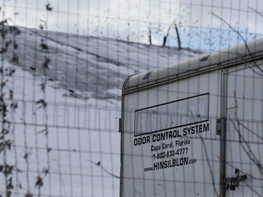 An odor control station at High Acres Landfill on Thursday.