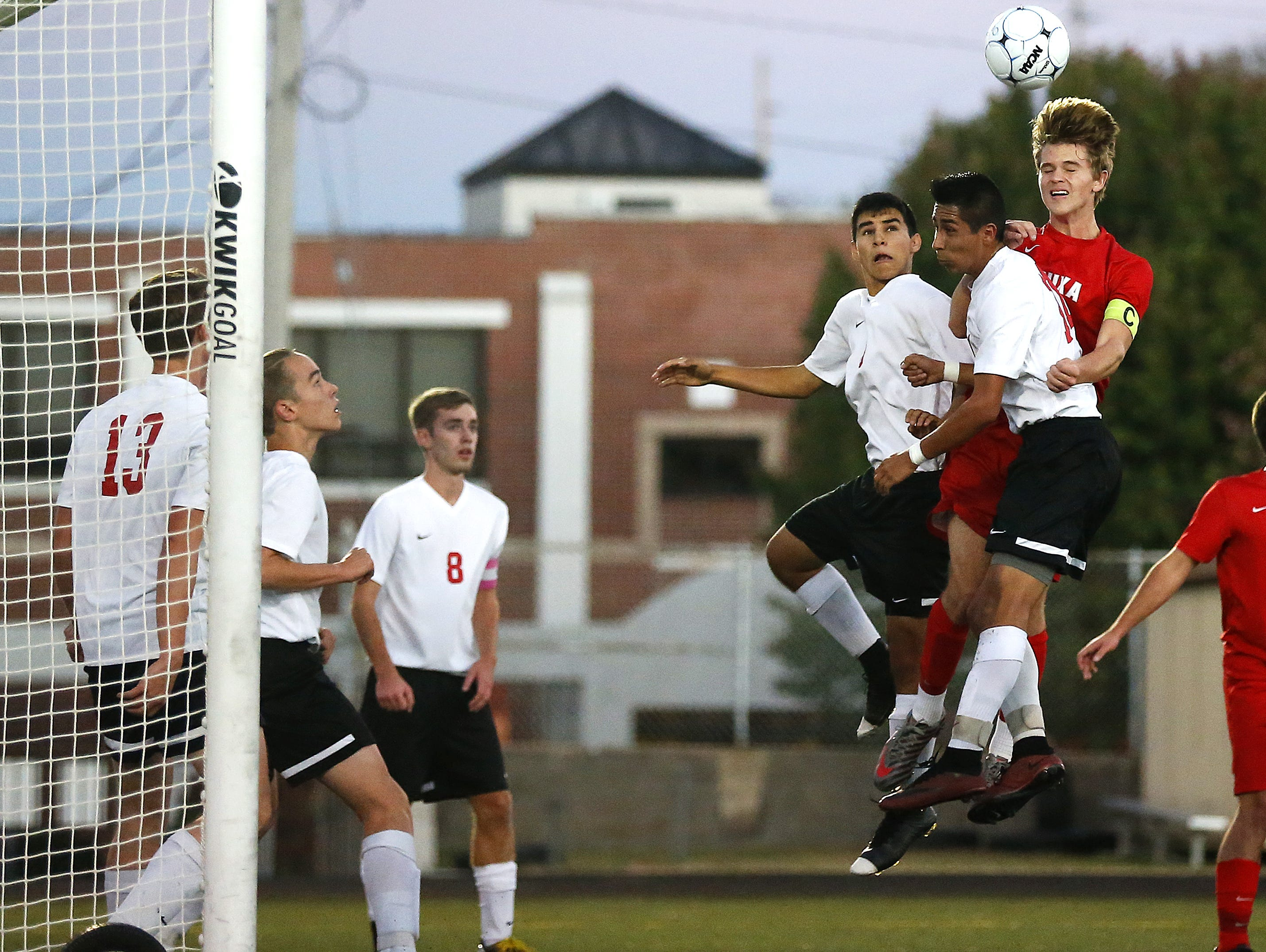 Nixa forward Joey Clem (far right) leads a group of four Eagles selected to the American Family Insurance ALL-USA Ozarks 2015 boys soccer team.