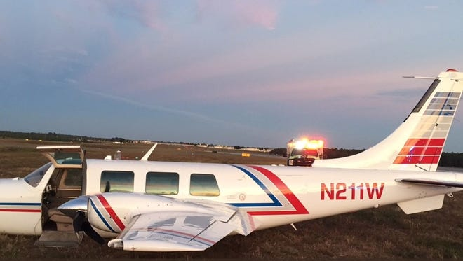 "A Piper Aerostar that experienced an ""anomaly"" while trying to take off from Tallahassee International Airport Friday."