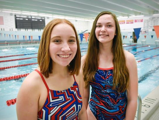 Kaylie Storeing and Rachel Warner are the St. Cloud