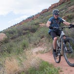 Watch a mountain biker climb the Fort Collins foothills