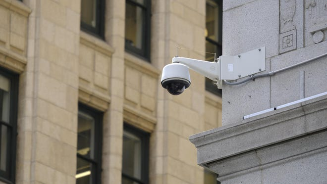 York City is considering a proposal to install video cameras, such as this one seen in San Francisco, throughout the city to create a surveillance network.