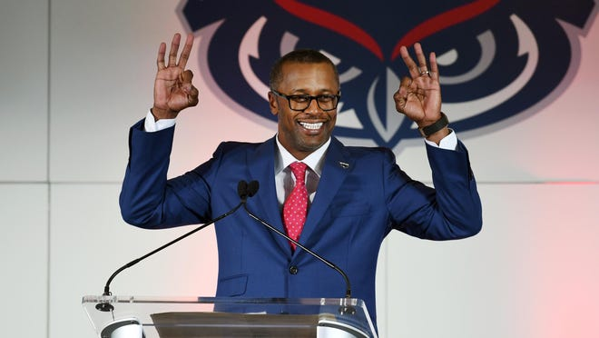 Willie Taggart is introduced as the new head football coach at Florida Atlantic University.