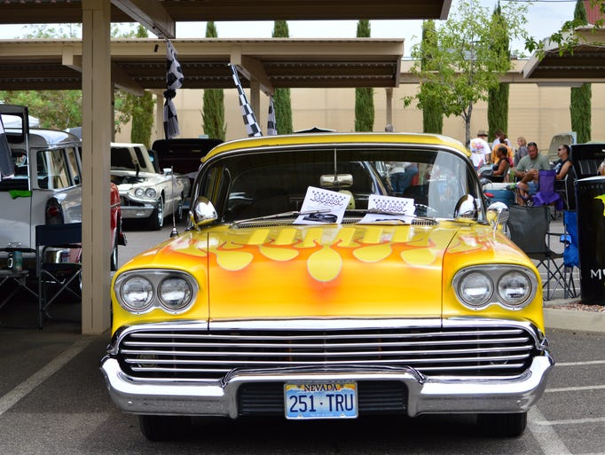 Jake Noll's 1958 Chevy was one of 144 cars in the Boulder City Cruisin' Association and Eureka Casino Resort's Rod Run Labor Day weekend.