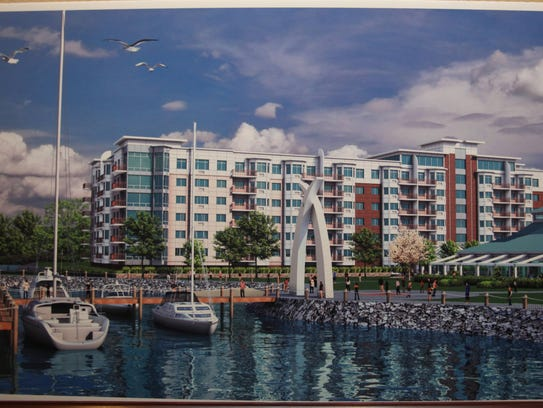A rendering of Ginsburg Development Cos.' Harbor Square