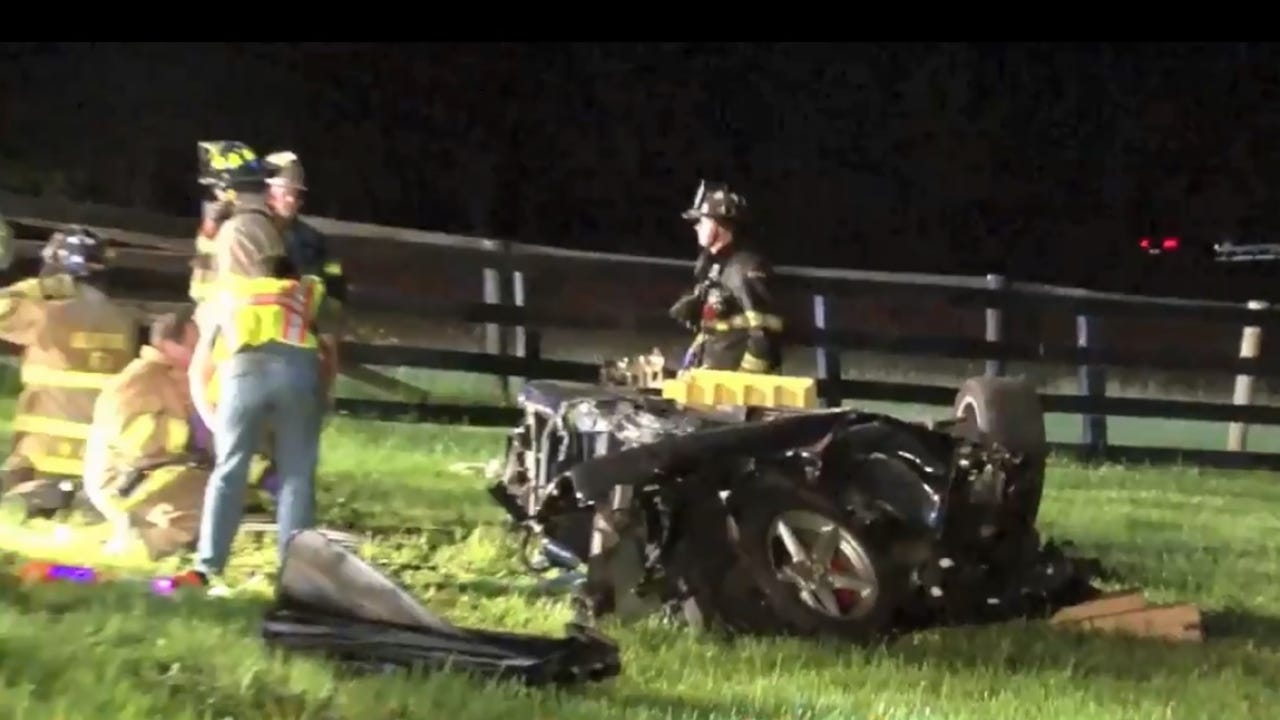 Video: Ferrari crash in Bedford