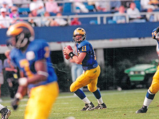 Matt Nagy passed for 3,436 yards and a UD record 29 touchdowns in 2000.