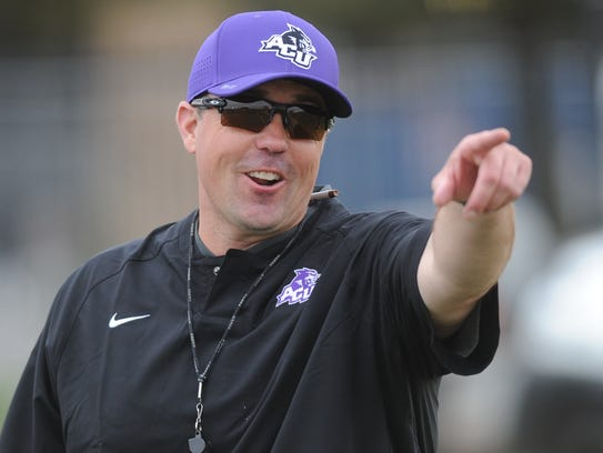 First-year Abilene Christian coach Adam Dorrel has