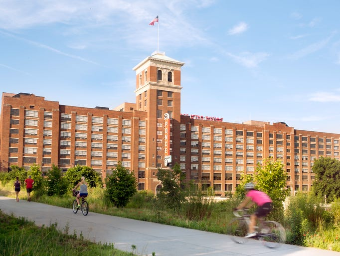 The Atlanta BeltLine leads straight into Ponce City