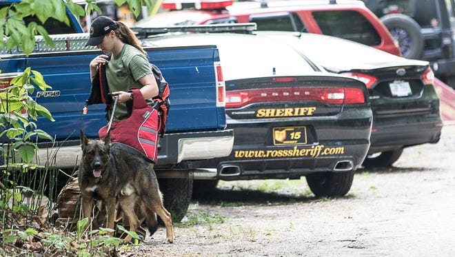 The Ohio Department of Natural Resources dispatched their K-9 Unit to look for a possible missing person in Paint Creek near Alum Cliff Road on Sunday, May 20, 2018.