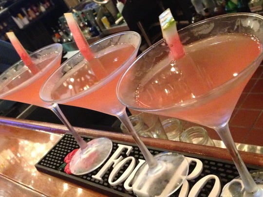 Watermelon martinis are on the drinks menu at the new