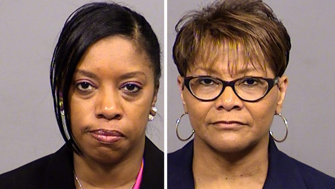 """Shalon Dabney (left) and Lela """"Tina"""" Hester each were charged with a misdemeanor count of failure to make a report. They entered pretrial diversion."""