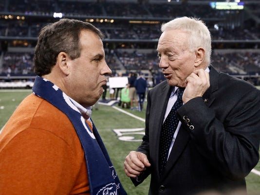 Chris Christie, Jerry Jones
