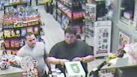 Two suspects in this photo was taken from in-store surveillance video used a stolen credit card to make purchases at the Circle K located at 1523 NE Pine Island Road. on November 17.