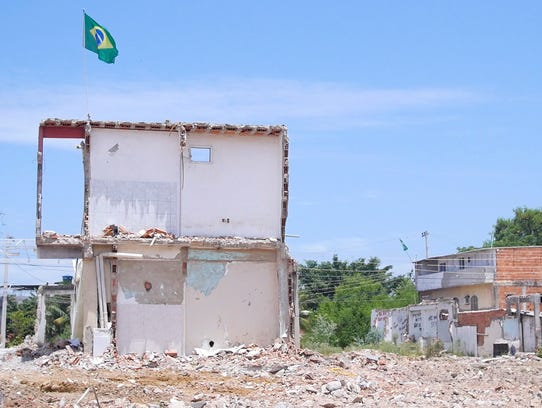 The Vila Autódromo while in the midst of being demolished.