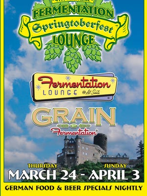 Springtober Fest runs from March 24-April 3 and features German foods and beers.
