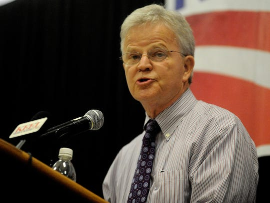 FILE PHOTO: Buddy Roemer speaks in Bossier City on Saturday, July 9, 2011.