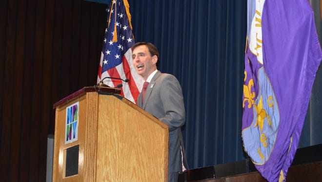 """New Rochelle Mayor Noam Bramson delivered an impassioned """"State of the City"""" address at City Hall, March 8, 2017."""