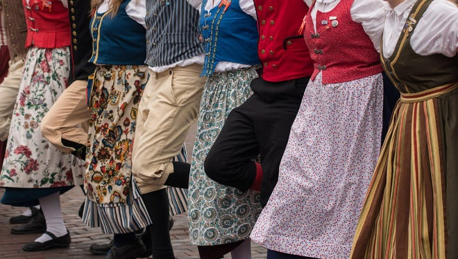 See traditional Scandinavian fashions at the American Swedish Historical Museum on Saturday, Nov. 5.