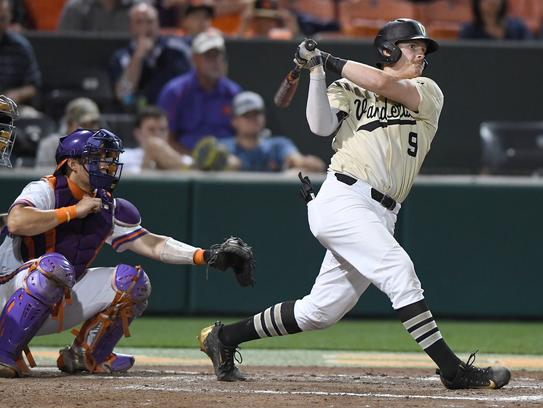 Vanderbilt's Will Toffey, right, joins former Commodores