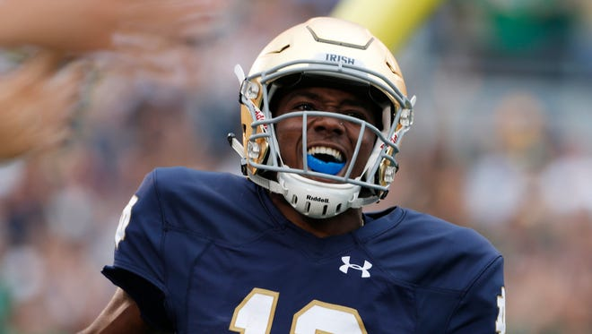 Notre Dame Fighting Irish quarterback Brandon Winbush.