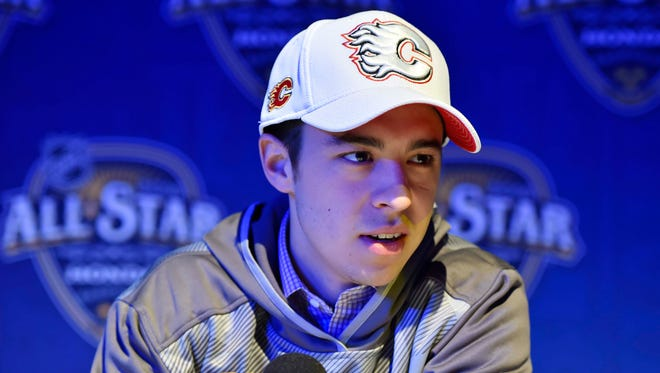 "Calgary Flames All-Star Johnny Gaudreau enjoys watching the show ""Nashville."""