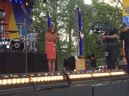 "Tallahassee's Star Swain during her appearance Friday, July 1, in New York's Central Park for ""Good Morning America."""