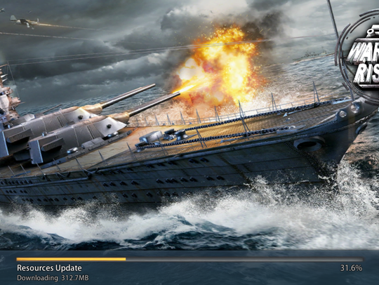 This image shows a scene from 'Warship Rising.'