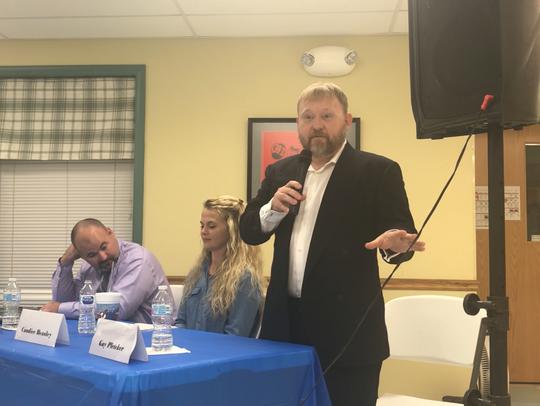 "Guy ""Mick"" Pletcher speaks at the Ashland City Council"