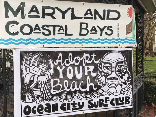Maryland Coastal Bays held its ninth Earth Day cleanup in Ocean City in early April. The weather was rainy, but Maryland Coastal Bays encouraged people to still come out to get free cleaning supplies.