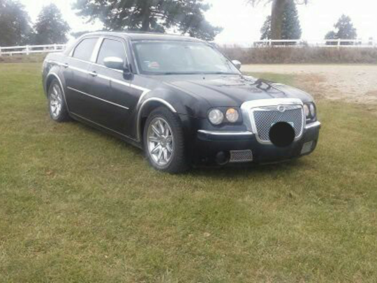 Austin Kirkpatrick's Chrysler 300 he drove while pursuing