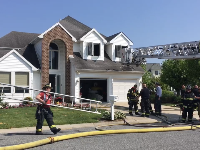 Firefighters responded to a structure fire on Madison