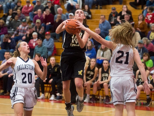 Delone Catholic's Maddie Clabaugh shoots the ball against