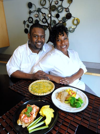 Chef Maurice Webb and his wife, Neisy Webb, pose with