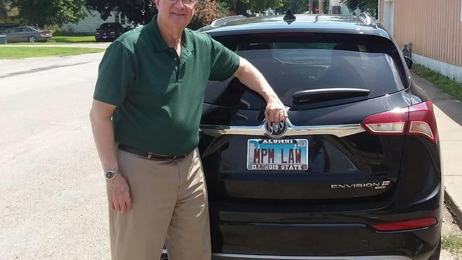 Judge Michael McCuskey's license plate testifies to both a legal and judicial career that has spanned nearly 45 years and also his loyalty to alma mater Illinois State University, which he also served for several years as chairman of the board of trustees. McCuskey, who has served 32 years on federal and state benches, announced recently that he will retire from his latest position Oct. 20.
