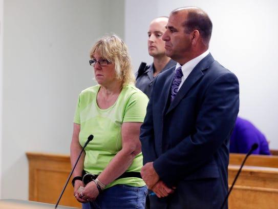 Joyce Mitchell is arraigned in court on June 12, 2015,