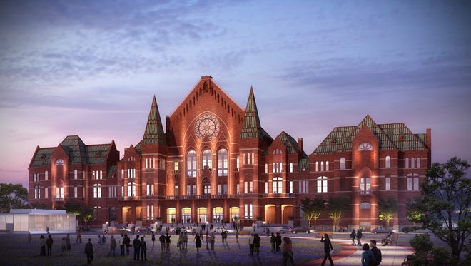 A rendering of the renovated Music Hall