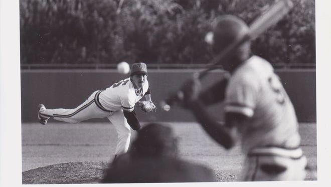 Former UL pitcher Garrett O'Connor was part of the infamous 1984 brawl against McNeese State back at Tigue Moore Field.