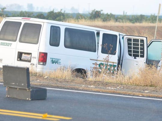 A Tulare County SheriffÕs deputy died early Tuesday morning after losing control of the vehicle he was driving. The driver, Deputy Jeremy Meyst, 31, was heading back from Porterville with two inmates in a SheriffÕs transport vehicle. He lost control of the van for an unknown reason and clipped the guard rails of the Friant-Kern Canal bridge. He was heading north on Spruce Road toward Highway 198 when he crashed. The deputy was ejected from the van.