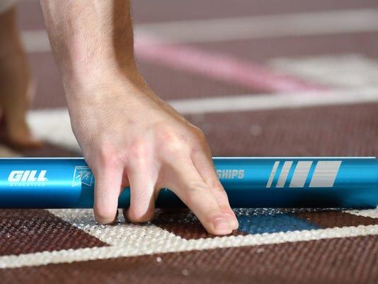 Track relay baton